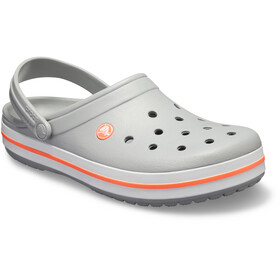 Crocs Crocband Clogs zoccoli, light grey/bright coral